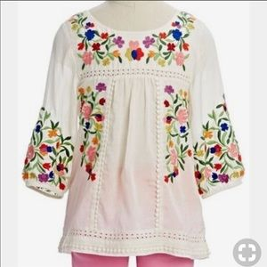 Peek Marin Embroiderd Peasant Top